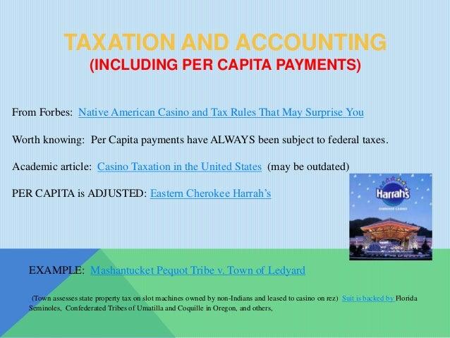 Per capita + native american + casino croupiers casino ltd