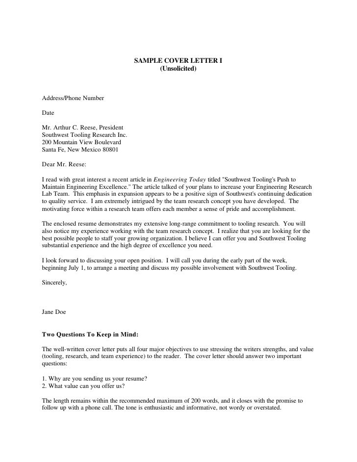 Cover Letter Samples – The Best Cover Letters Samples