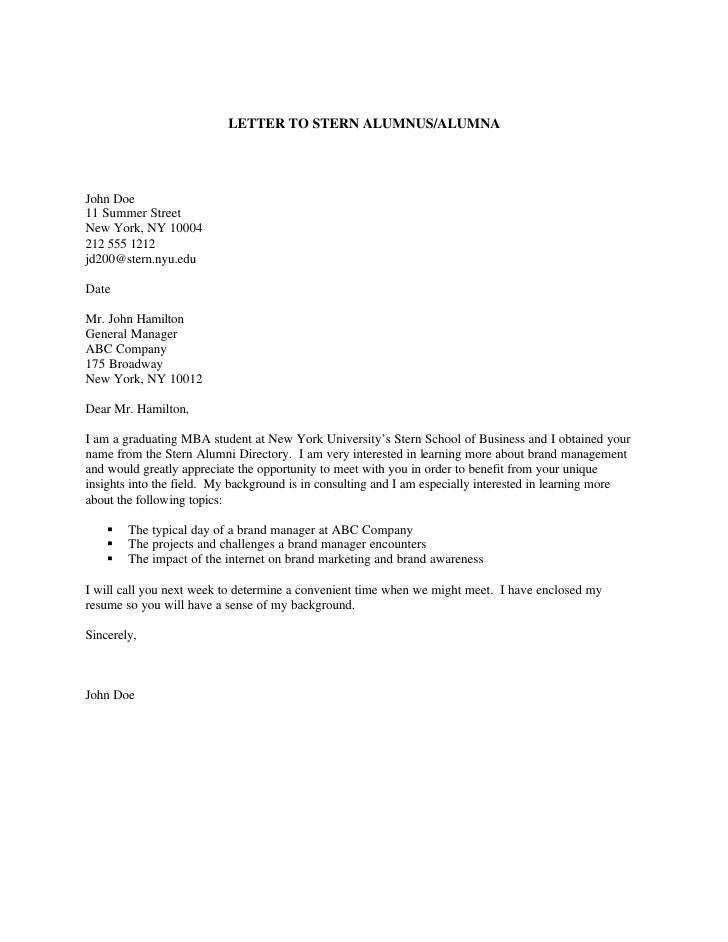 Cover Letter Format Nyu