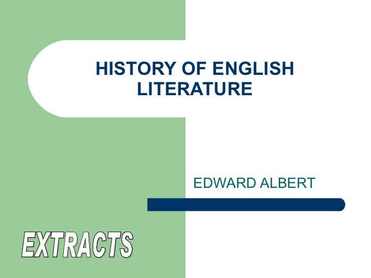 History of english literature by edward albert pdf viewer