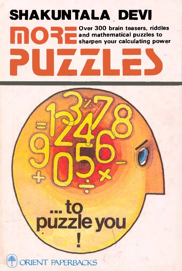 Shakuntala Devi Puzzles To Puzzle You Pdf Download
