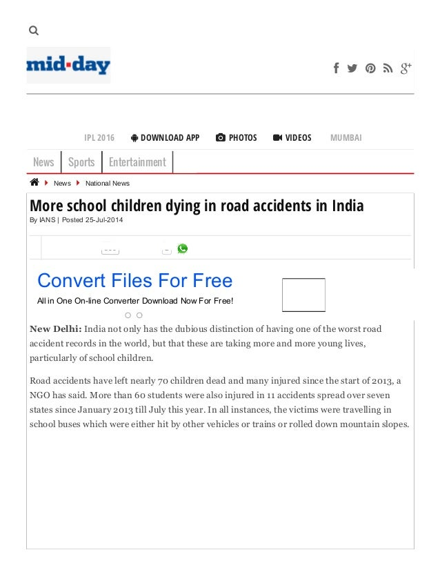 More school children dying in road accidents in india news