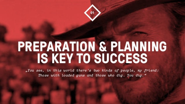 """PREPARATION & PLANNINGIS KEY TO SUCCESS01""""You see, in this world theres two kinds of people, my friend:Those with loaded g..."""