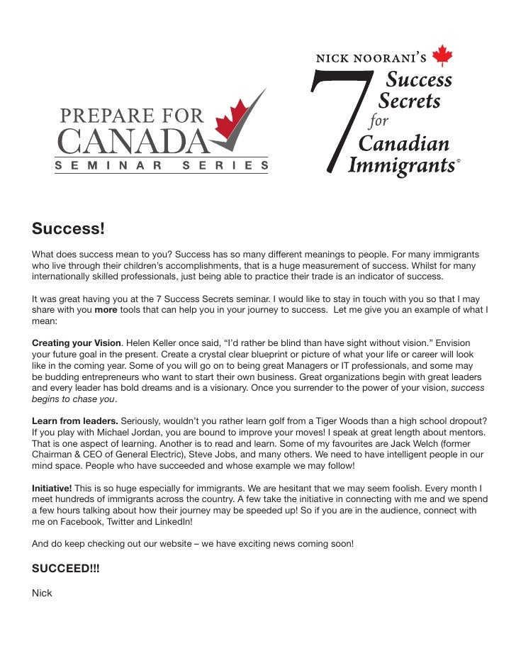More Success Secrets From Nick Noorani