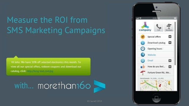 © Cauwill 2013Measure the ROI fromSMS Marketing Campaignswith…
