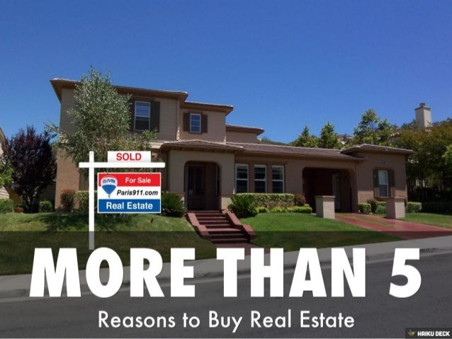More than 5 reasons to buy a  home