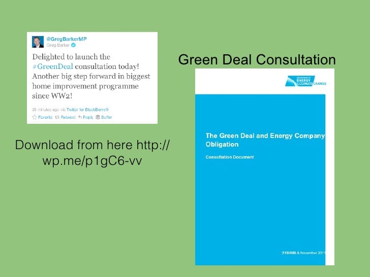 green deal accreditation process and its relationship