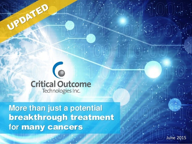 More than just a potential breakthrough treatment for many cancers June 2015