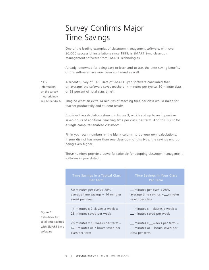 Survey Confirms Major                      Time Savings                      one of the leading examples of classroom mana...