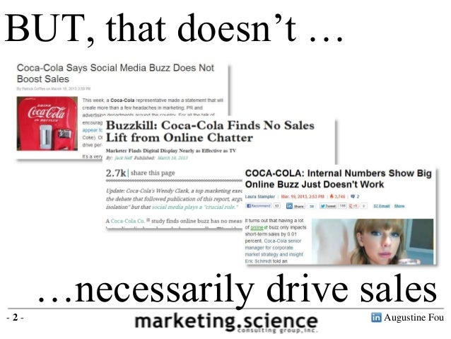 BUT, that doesn't …-2-      …necessarily drive sales                          Augustine Fou