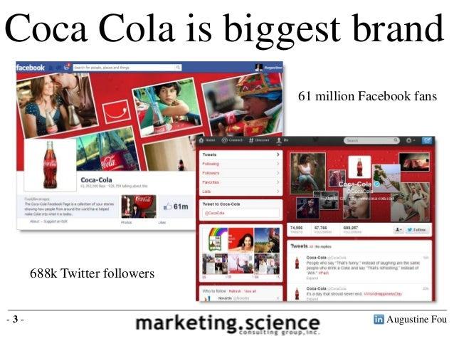 Coca Cola is biggest brand                               61 million Facebook fans      688k Twitter followers-3-          ...
