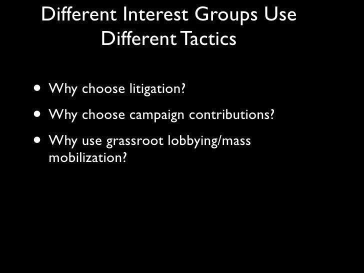 tactics used by interest groups