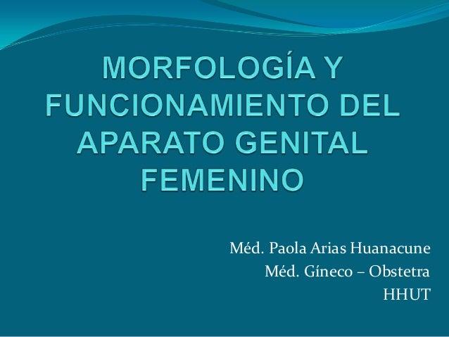 Méd. Paola Arias Huanacune    Méd. Gíneco – Obstetra                    HHUT