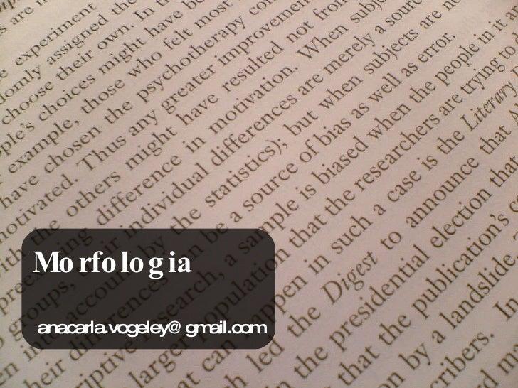 Morfologia [email_address]
