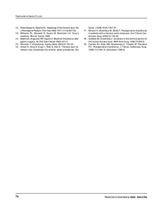 Morfologia del conducto toracico