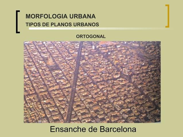 Ensanche de Barcelona ORTOGONAL MORFOLOGIA URBANA TIPOS DE PLANOS URBANOS