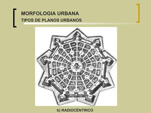 b) RADIOCÉNTRICO MORFOLOGIA URBANA TIPOS DE PLANOS URBANOS