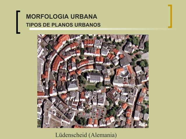 Lüdenscheid (Alemania) MORFOLOGIA URBANA TIPOS DE PLANOS URBANOS