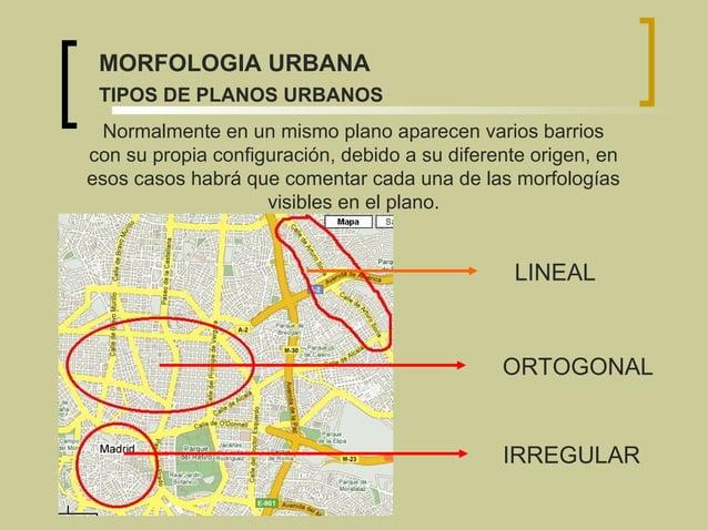 Normalmente en un mismo plano aparecen varios barrios con su propia configuración, debido a su diferente origen, en esos c...