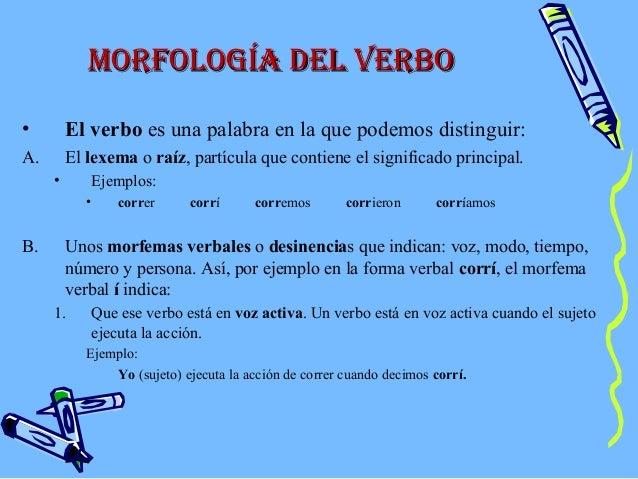 Morfologia Verbal