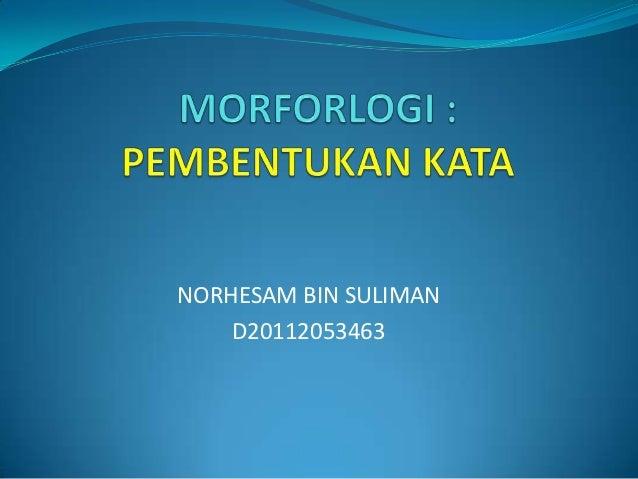 NORHESAM BIN SULIMAN    D20112053463