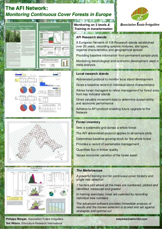 The AFI Network: Monitoring Continuous Cover Forests in Europe Monitoring on 3 levels & Training in transformation AFI Res...