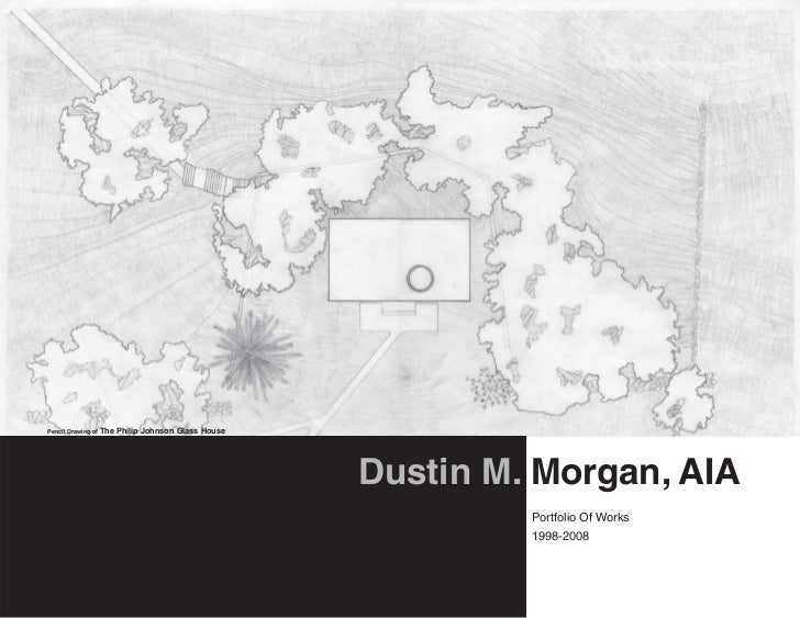 Pencil Drawing of The   Philip Johnson Glass House                                                     Dustin M. Morgan, A...