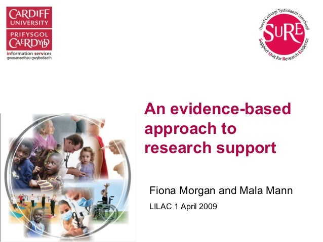 An evidence-based approach to research support Fiona Morgan and Mala Mann LILAC 1 April 2009