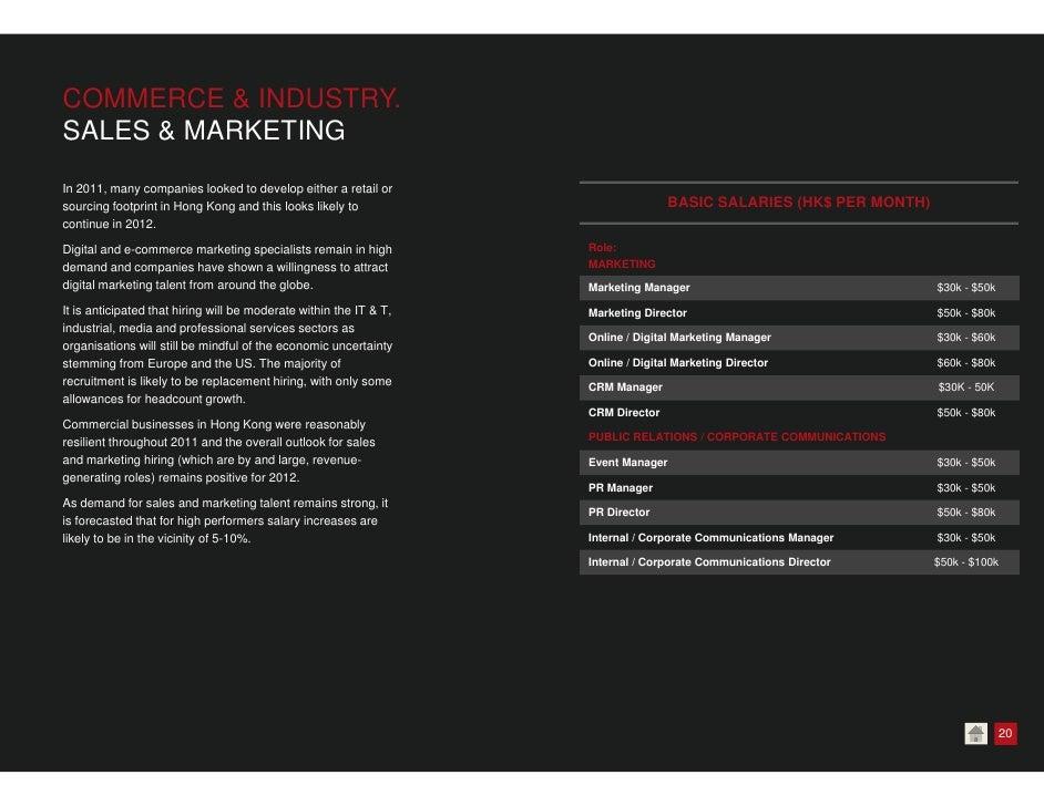 Morgan McKinley Hong Kong Salary Survey 2012