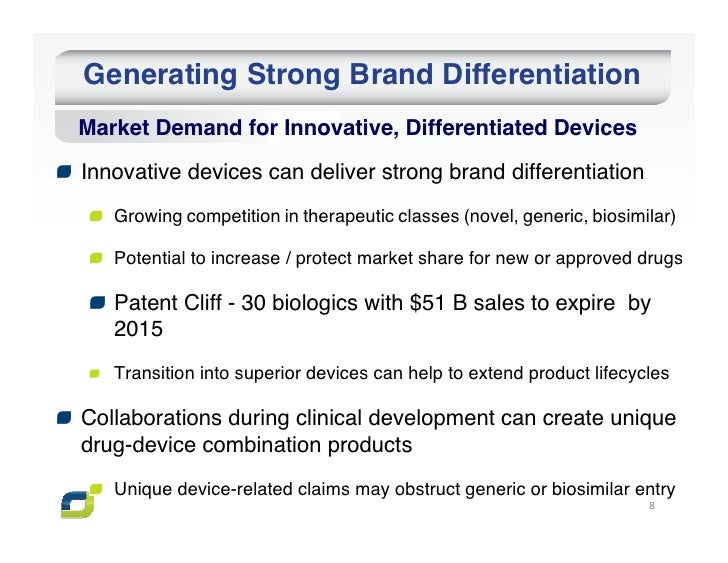 Generating Strong Brand DifferentiationMarket Demand for Innovative, Differentiated DevicesInnovative devices can deliver ...