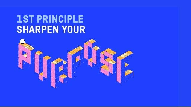 1ST PRINCIPLE SHARPEN YOUR