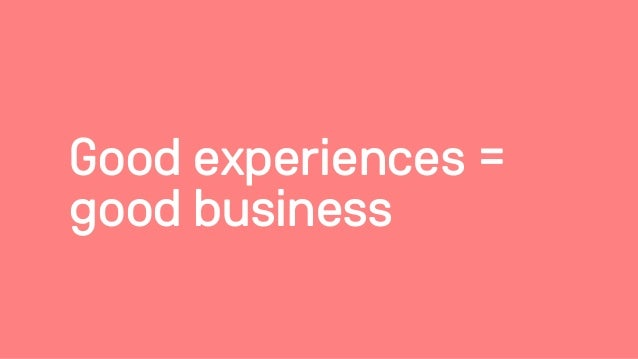 5 dogmas for creating great experiences