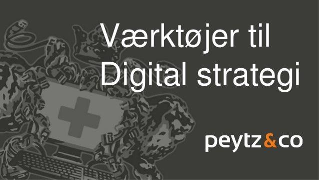 Værktøjer til Digital strategi