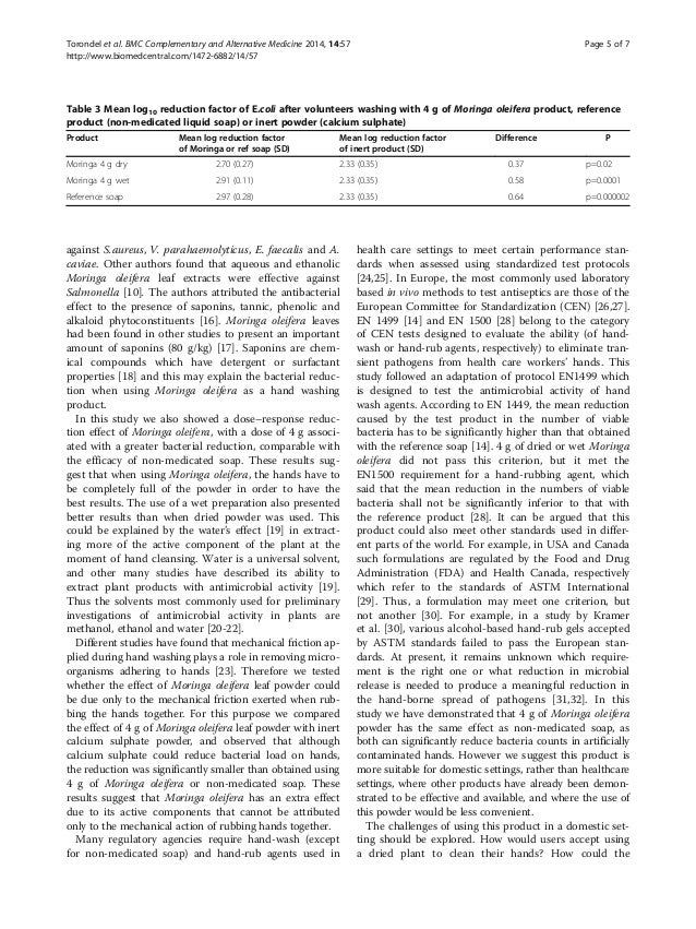 moringa oleifera as an alternative detergent Moringa oleifera as an alternative fodder for dairy cows in nicaragua abstract the four studies comprising this thesis characterised moringa oleifera as a fodder for dairy cows under dry tropical conditions in nicaragua.