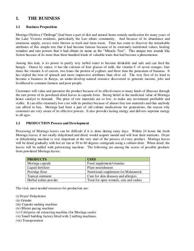 Moringa business-plan