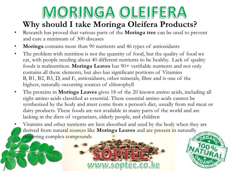 Does Moringa Oleifera Work? Review of Research (April 2018)