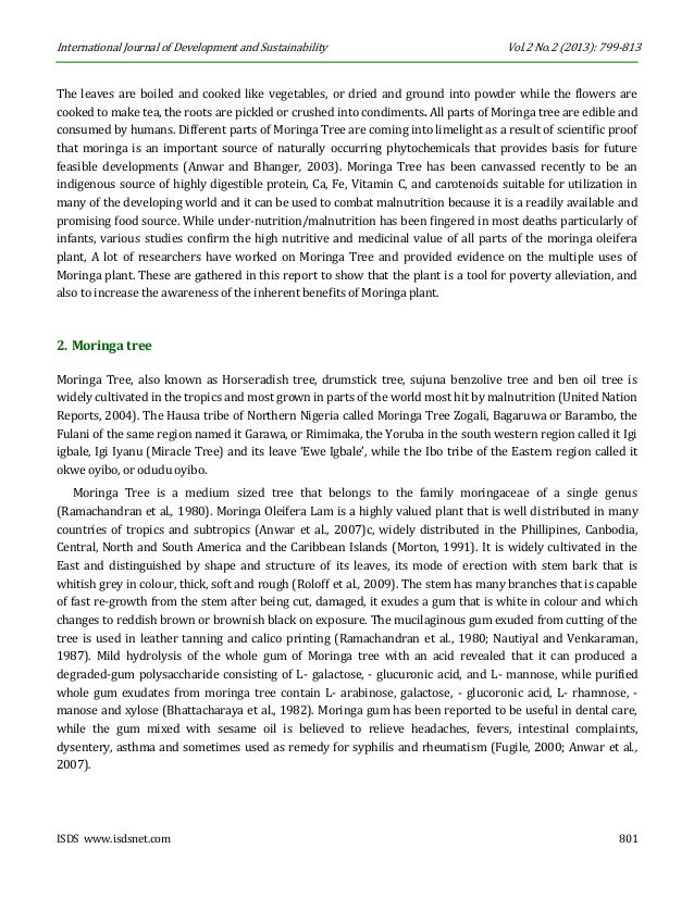 the feasibility of moringa oleifera and The feasibility of malunggay leaves moringa oleifera as an alternative  cockroach killer researcher renzel jane a adal gtade 9- ste- 26.