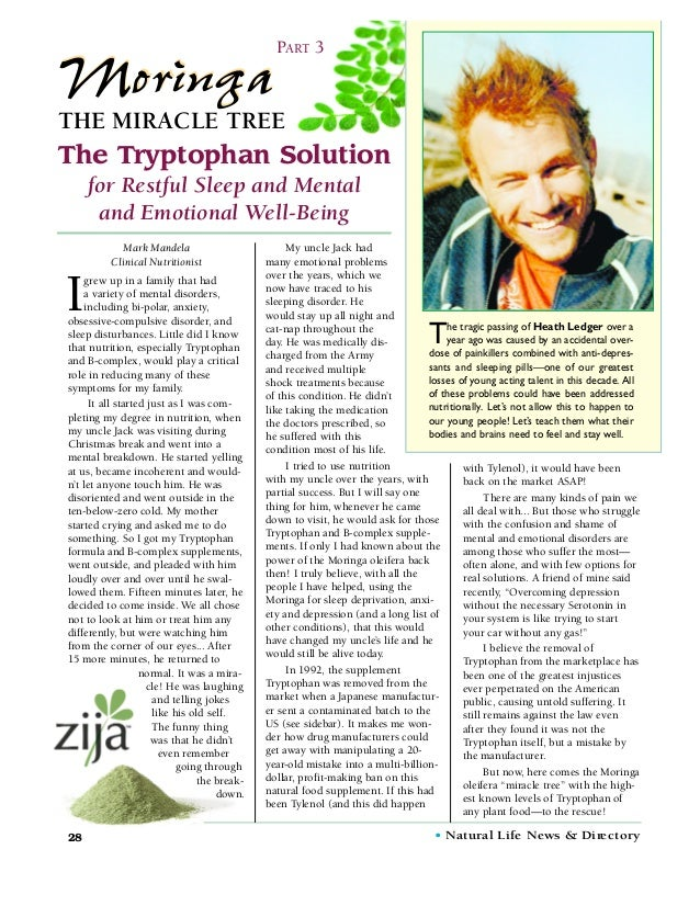 PART 3MoringaTHE MIRACLE TREEThe Tryptophan Solution     for Restful Sleep and Mental      and Emotional Well-Being       ...