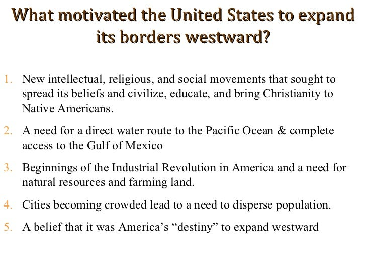 an introduction to the manifest destiny Manifest destiny & mexican-american war introduction in a nutshell to understand some of the long-term effects of this tussle with mexico,.