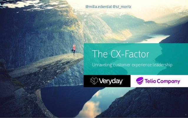 The CX-Factor Unraveling customer experience leadership 1 @milla.eckerdal @st_moritz