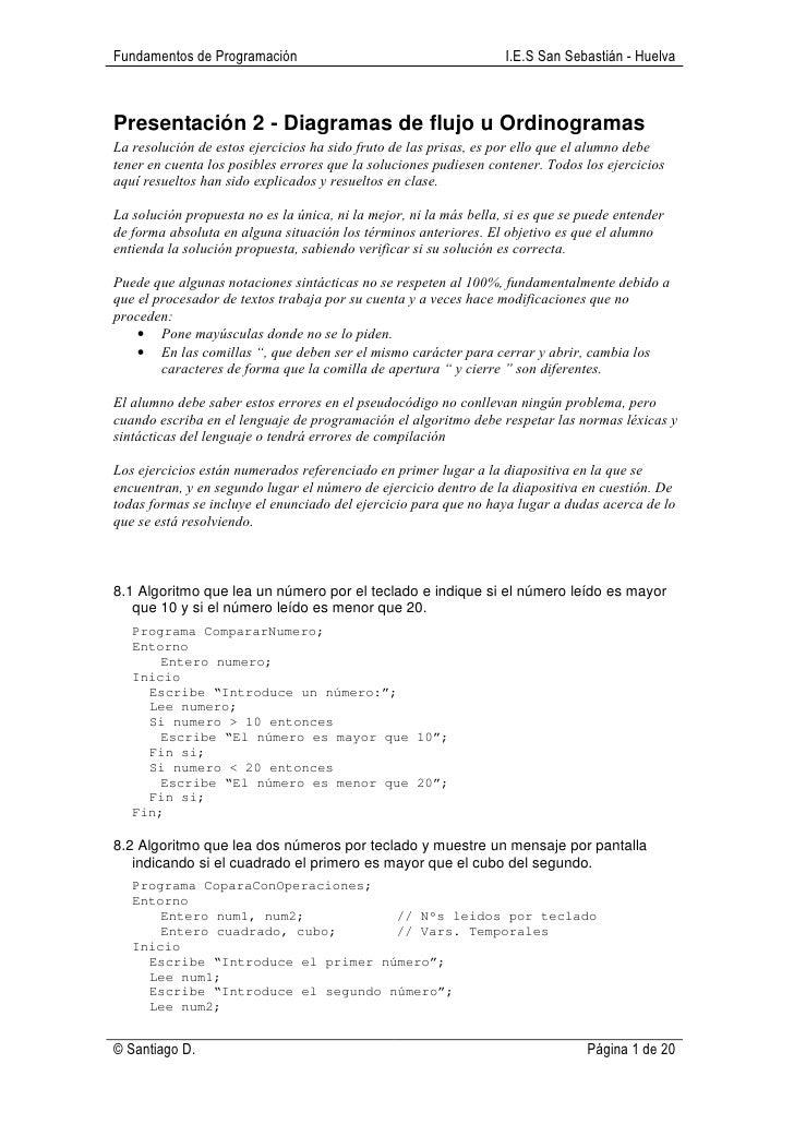 Fundamentos de Programación                                        I.E.S San Sebastián - HuelvaPresentación 2 - Diagramas ...
