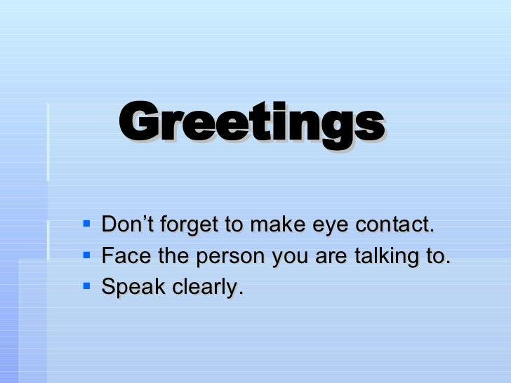 Morning meeting greetings m4hsunfo