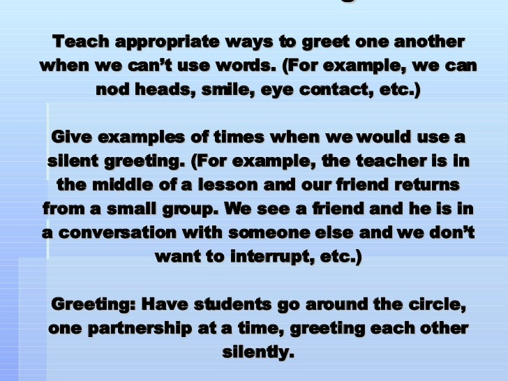 Morning meeting greetings 24 silent greeting teach appropriate ways m4hsunfo
