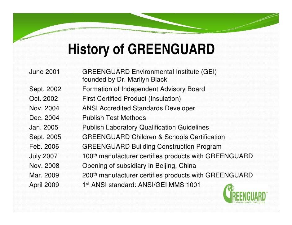 Ecolabels Mark Rossolo Greenguard