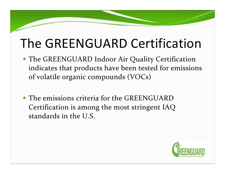 Ecolabels Mark Rossolo Greenguard