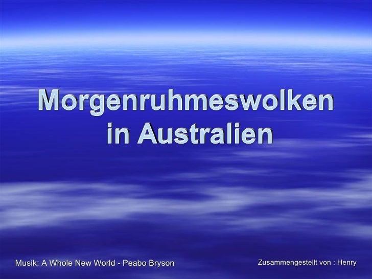 Musik: A Whole New World - Peabo Bryson   Zusammengestellt von : Henry