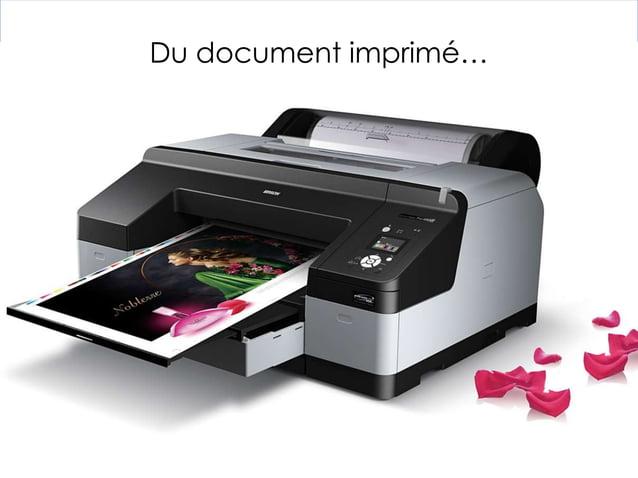 Du document imprimé…