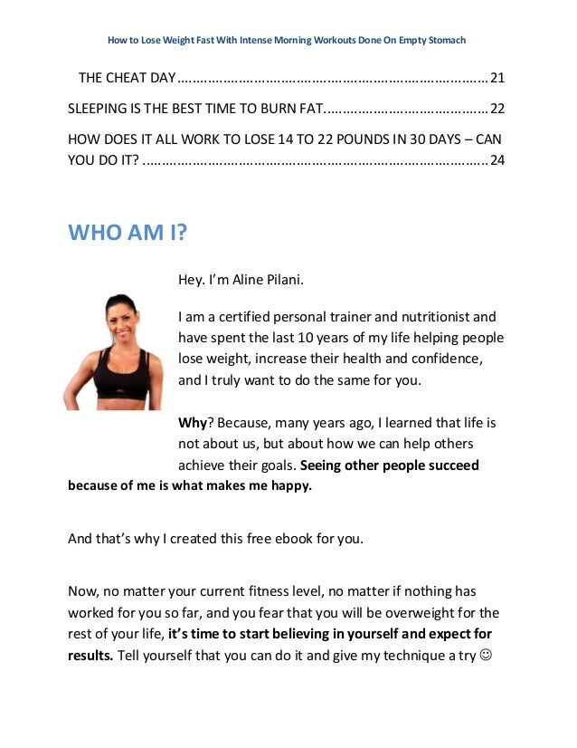 Morning workouts on empty stomach designed to lose weight fast how to lose weight fast ccuart Gallery