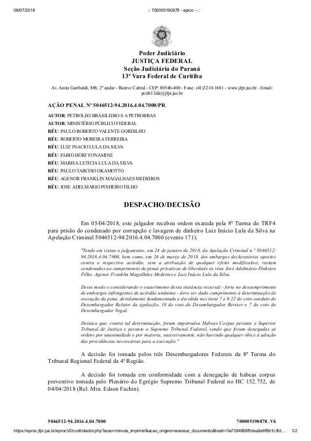 08/07/2018 :: 700005190878 - eproc - :: https://eproc.jfpr.jus.br/eprocV2/controlador.php?acao=minuta_imprimir&acao_origem...