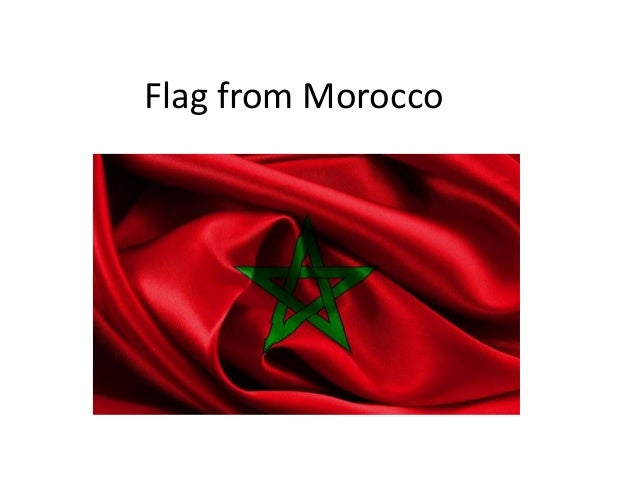 Flag from Morocco